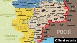 Сытуацыя ў зоне баявых дзеяньняў на Данбасе на 1 кастрычніка 2015