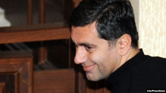 Former Defense Minister Irakli Okruashvili appears in court last year.