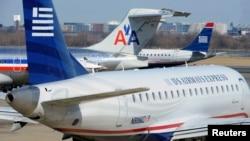 Pamje e aeroplanëve të kompanisë American Airlines
