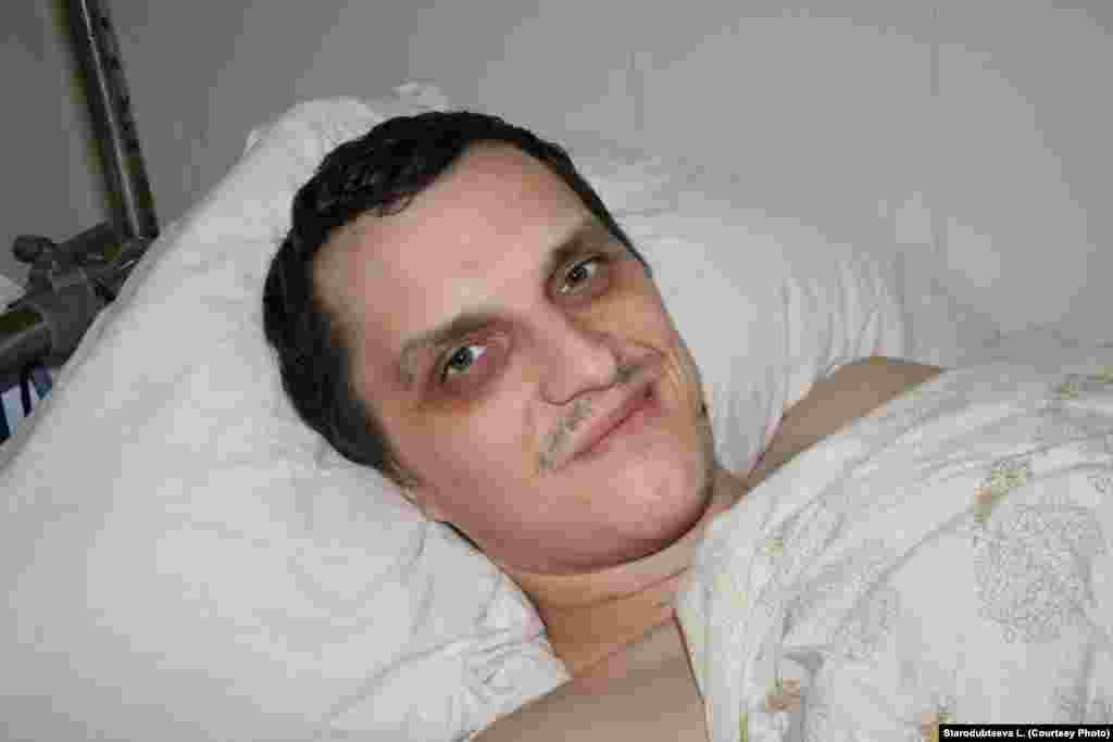 Украинский военнослужащий Кирилл Золотарёв в больничной палате