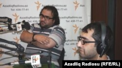 Cəlil Cavanşir və Əli Novruzov (sağda)