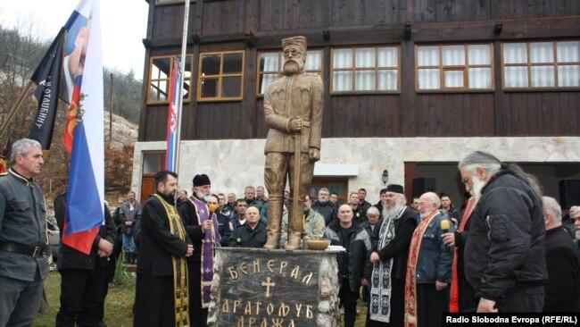 Spomenik četničkom komandantu Draži Mihailoviću u Višegradu