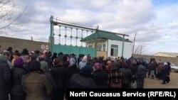 Митинг в селе Берикей, Дагестан
