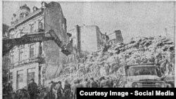 Imagine de ziar după cutremur