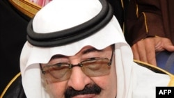 King Abdullah bin Abdul Aziz speaks to the press in Riyadh n February.