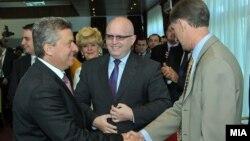 Претседателот на Република Македонија Ѓорге Иванов и Филип Рикер, заменик помошник државен секретар на САД. Охрид, Македонија.