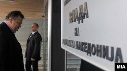 Заменик-претседателот на Владата и МНР на Грција и претседавач со Советот за општи работи на ЕУ Евангелос Венизелос во Скопје.