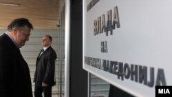 Поранешниот министер за надворешни работи на Грција Евангелос Венизелос во Скопје.