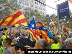 Протесты сторонников независимости Каталонии. Барселона, 11 сентября