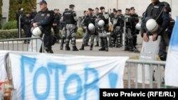 Protest demokratskog fronta u Podgorici