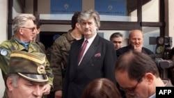 Ratko Mladić i Radovan Karadžić na Palama, 18 april 1993