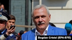 ROMANIA -- Liviu Dragnea, the president of the Romanian Parliament's Deputy Chamber and the leader of the main ruling party PSD (Social Democracy Party), leaves the High Court of Cassation and Justice of Romania (ICCJ) headquarters, after the last hearing