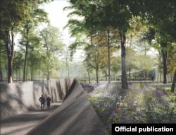 Проект мемориального комплекса в Бабьем Яру предполагает ров, глубиной несколько метров