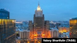 Russia -- The Russian Foreign Ministry buiding, Moscow.