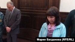 Диганов и Тихомирова в зале суда