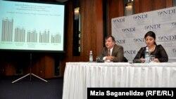 ეროვნულ-დემოკრატიული ინსტიტუტის (NDI) მორიგი გამოკვლევის პრეზენტაცია