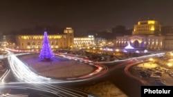 Площадь Республики, Ереван, 19 декабря 2016 г.