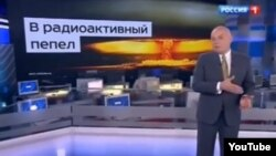 """Jurnalistul Dmitri Kiselev a descris cu lux de amănunte, într-o emisiune la postul TV Rossia, cum anume Rusia ar putea să facă din SUA """"scrum radioactiv""""."""