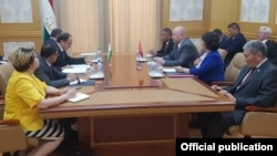 Встреча делегаций в Душанбе. 19 июня.