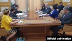 Встреча делегаций в Душанбе. 19 июня
