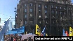 Jedan od mnogih protesta u Srbiji