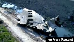 Part of the wreckage from the Ukraine International Airlines flight that was shot down on January 8 near Tehran by an Iranian surface-to-air missile.