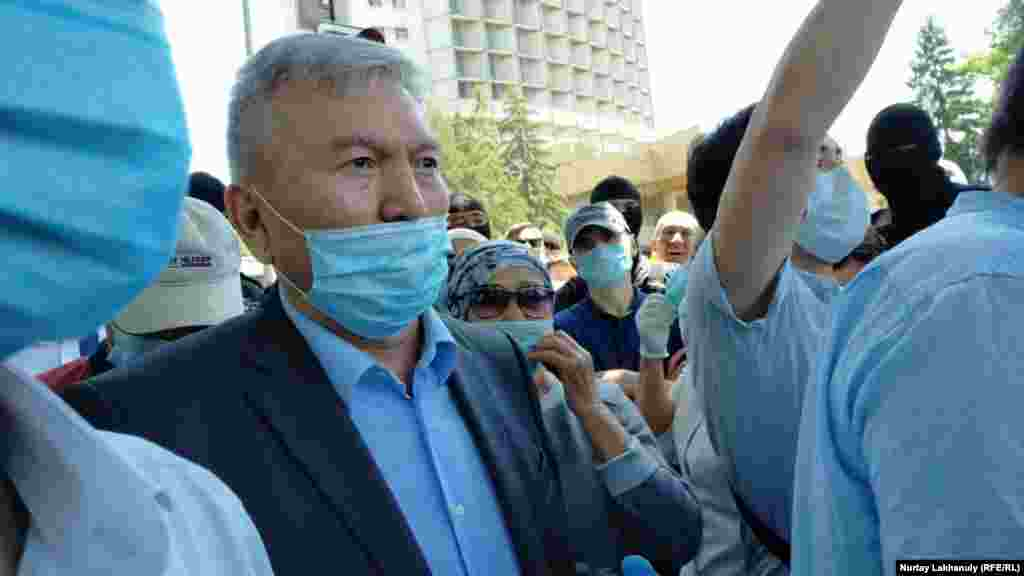 Rakhman Alshanov, chairman of the Public Council of Almaty, urged protesters to disperse.