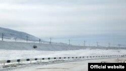 Armenia -- Snow road near Jajur village in Shirak region, 10Feb2018