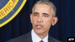 Президент США Барак Обама в штаб-квартире Центрального разведывательного управления (ЦРУ). Лэнгли, 13 апреля 2016 года.