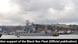 Повернення крейсера «Москва» на базу в окупованому Севастополі, 9 січня 2016 року