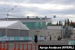 Конгресс-холл в Уфе – место проведения саммитов ШОС и БРИКС