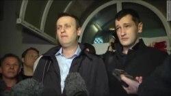 Выступление А.Навального перед прессой