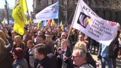 Beograd: Protest sindikata prosvete