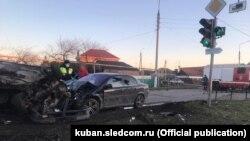 ДТП с участием полицейского в Краснодарском крае, 7 марта 2021 г.