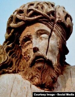 Calvarul lui Iisus, sculptură populară din Moldova