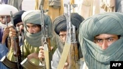 Baluch fighters at a camp southeast of Quetta, the capital of Baluchistan Province (file photo)