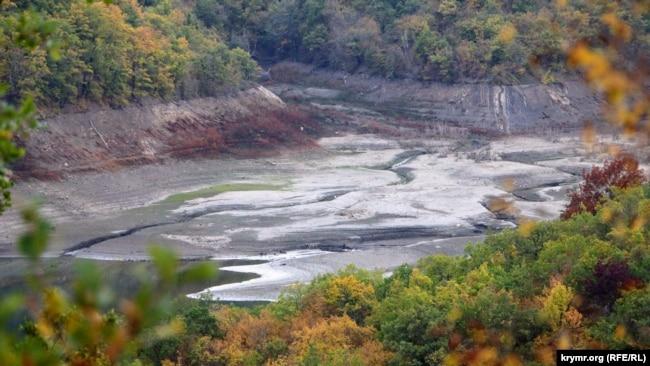Изобильненское водохранилище, октябрь 2020 года