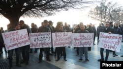 Armenia -- A protest near the Government's building against the upcoming amendments to the Law on State Duty. 11March,2019