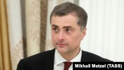 Presidential aide Vladislav Surkov attends a meeting in Moscow in August 2018.