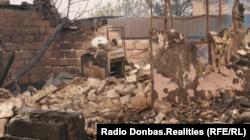 Последствия лесного пожара, Луганская область