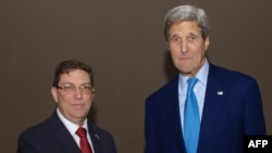 Bruno Rodriguez i John Kerry u Panami, 9. april 2015.