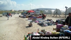 بسطيات في مخيم شاريا