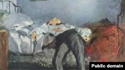 """Француз рассоми Эдуард Манетнинг """"Ўз жонига қасд қилган киши"""" асари (1877-1881)"""