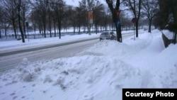 Бухарест после снегопада