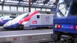 Fransada dəmiryolçular da tətilə çıxdı