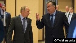 Владимир Путин и Ёмомали Рахмон. Архивное фото