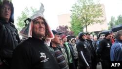 Borci tokom protesta u Sarajevu, April 25, 2016