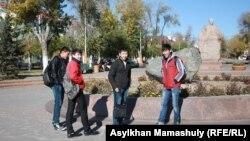 Студенты в Жезказгане. 29 октября 2013 года.
