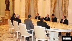 Ռուսաստանի նախագահ Վլադիմիր Պուտինը Մոսկվայում ընդունում է Իրանի ԱԳ նախարար Մոհամադ Ջավադ Զարիֆին, արխիվ