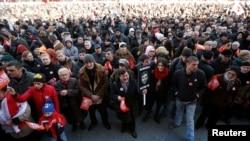 Վրաստան - Ի պաշտպանություն «Ռուսթավի 2»-ի ցույցը Թբիլիսիում, 19-ը փետրվարի, 2017թ․